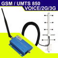 3G UMTS 850mhz Mobile Phone Signal Booster 65dB 2G 3G CDMA GSM 850 Cell Phone Repeater Amplifier Repetidor De Sinal De Celular
