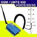 3G UMTS 850 mhz Mobile Phone Signal Booster 65dB 2G 3G CDMA GSM 850 Telefone Celular Repetidor De Sinal De Celular Amplificador de Potência Repetidor