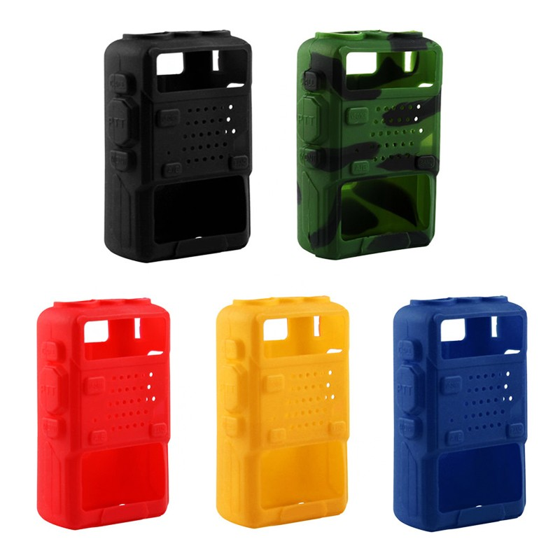 Silicone Rubber Cover Soft Protective Case For Baofeng Uv-5r/UV-5RA/UV-5R Plus/UV-5RE/UV-5RC/F8+ Walkie Talkie Uv5r Accessories