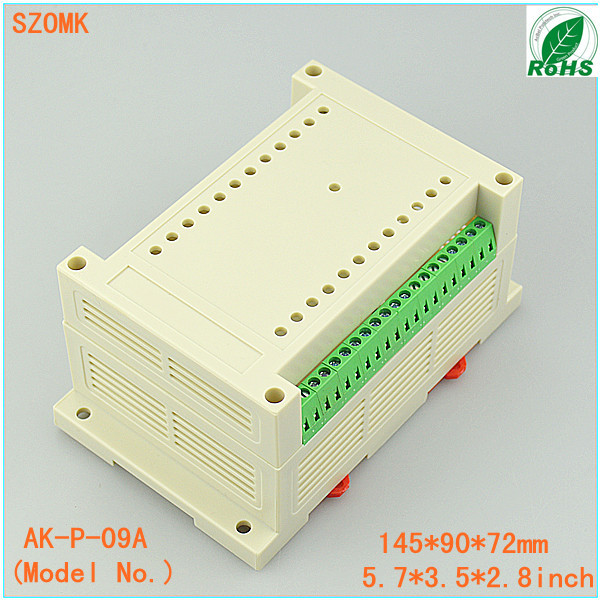 terminal block din rail junction box (1 pcs)145*90*72mm din rail plastic enclosure project boxes plastic case electronics 4pcs a lot diy plastic enclosure for electronic handheld led junction box abs housing control box waterproof case 238 134 50mm