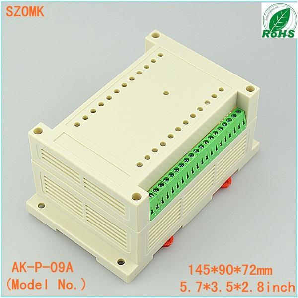 terminal block din rail junction box (1 pcs)145*90*72mm din rail plastic enclosure project boxes plastic case electronics
