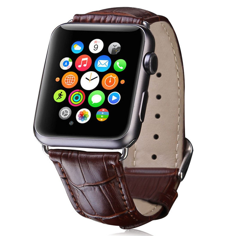 ASHEI Crocodile Pattern Strap For Apple Watch Band Leather Series 3 42mm 38mm Bracelet Watchband For Apple Watch 3 2 1 Leather 42mm 38mm for apple watch s3 series 3