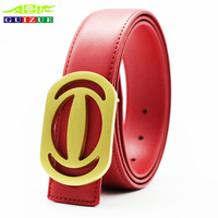 GUIZUE Copper Buckle Belt Men Genuine Leather Black GG Womens Belts G Luxury Brand Design H