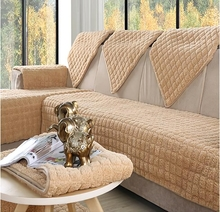 Flanell 4 farben Sofabezüge Fleeced Stoff Stricken Umweltfreundliche Anti-milben Manta Sofa Schonbezug Couch Abdeckung sofa sitzkissen #2