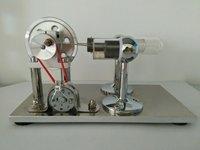 Hot Air Stirling Silnika Silnik Modelu Zabawki Edukacyjne Zestawy Prądotwórczych Kolorowe LED Sc001