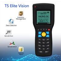Heroje T5 Elite Vision Wireless 433 Mhz 1D Barcode Scanner colector de datos Inventario EAN13 1D gestión inventario con cable