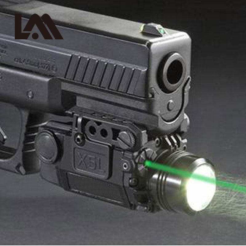 2in1 tatico x5l led lanterna combo verde mira laser pistola universal mira laser pistola para airsoft