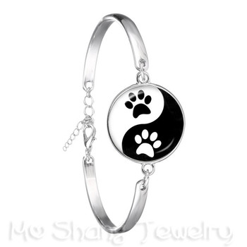 Newest Fashion Bracelet Handmade Taoist Tai Chi Yin&Yang Personality Lover Silver Plated Charm Bangle Best Gift image
