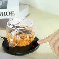 Household 220V Cup Warmer Heated Mug Coasters Electric Heater Thermostat Warm Cup Mat Pad Hot Milk Coffee Mug Warmer