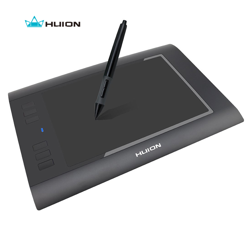 Promotion Huion Digital Pen Tablets H58L 8x5 2048 Levels Professional Drawing Tablets High Quality Best Price Black And  White huion new 1060plus 2048 levels digital tablets drawing tablets signature pen tablet professional animation drawing board tablets
