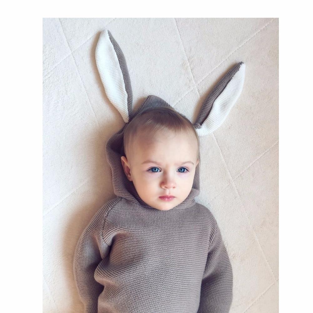 Qış 2018 Oğlanlar Sviter 3D Dovşan Bunny Pullover Uşaq Qızları - Uşaq geyimləri - Fotoqrafiya 4