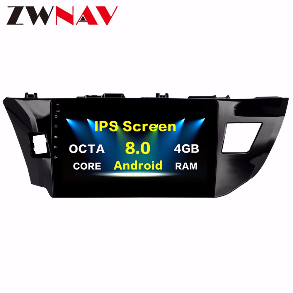 Android 8 0 Car GPS Navigation head unit For Toyota Corolla 2014 2015 2016 multimedia Radio