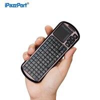 Ipazzport Bluetooth מיני חדש עם תאורה אחורית משטח מגע של עכבר אוויר מקלדת גמישה IR מרחוק הטוב ביותר עבור טלוויזיה חכמה מחשב נייד