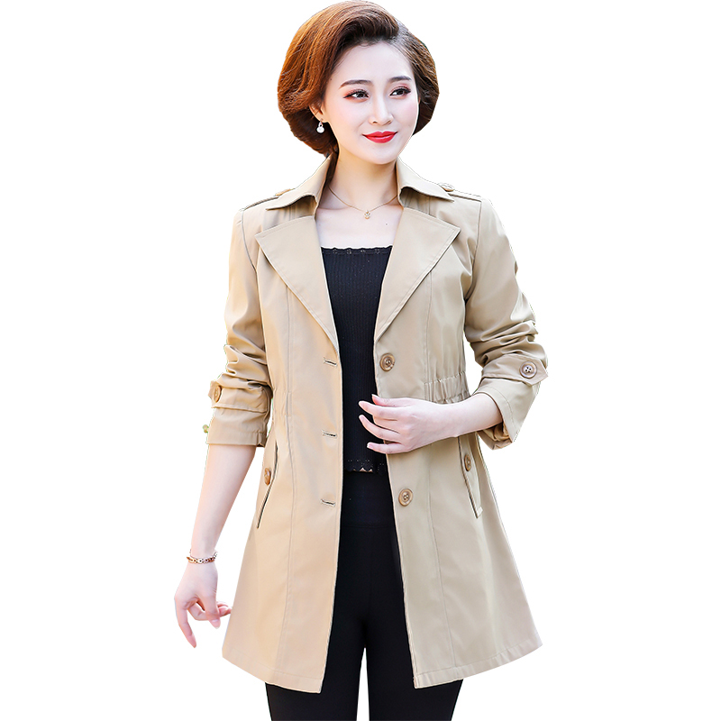 Plus size 5XL   Trench   Coat For Women Single-breasted Slim Fit Long Spring Coat Casaco Feminino Abrigos Mujer Autumn Outerwear