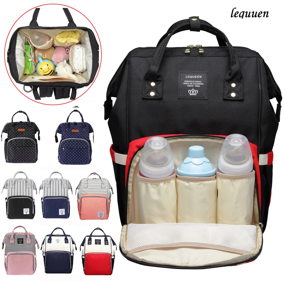 LEQUEEN Brand Mummy Diaper Maternity Nappy Bag Multifunctional Travel Backpack Nursing Handbag Large Capacity Mummy Diaper BagsLEQUEEN Brand Mummy Diaper Maternity Nappy Bag Multifunctional Travel Backpack Nursing Handbag Large Capacity Mummy Diaper Bags