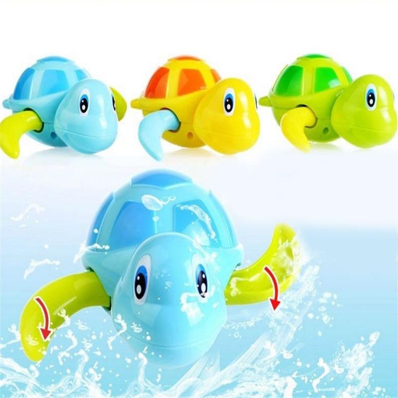 बेबी शिशु बच्चों के लिए प्यारा बच्चा स्नान फ्लोटिंग पशु पूल खिलौने विंड-अप तैराकी बच्चे स्नान क्लासिक कछुए खिलौने