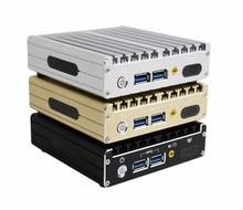 KINGDE алюминиевого сплава без вентилятора NUC мини-ПК с i3 4010U i3 4030U i5-5200U i5 5300U i7 5500U i7 4602Y процессор