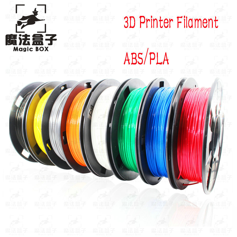 3D Printer Filament PLA or ABS Optional 1.75mm 1KG plastic Rubber Consumables Material 8 colours filament 3d printer DIY купить в Москве 2019