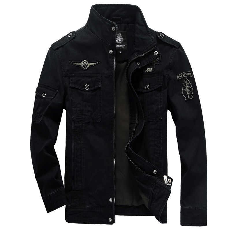 Хлопковая куртка в стиле милитари Для мужчин 2019 осень солдат MA-1 Стиль армейские куртки мужские брендовые Slothing Для мужчин s бомбардировщик куртка размера плюс M-6XL