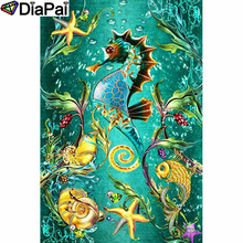 DIAPAI 5D DIY Diamond Painting 100% Full Square/Round Drill Animal Seahorse Embroidery Cross Stitch 3D Decor A21749