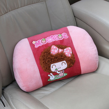 Cute cartoon car seat waist pillows mocmoc girl car accessories comfortable pink red lumbar office chair or car seat MOC-C10
