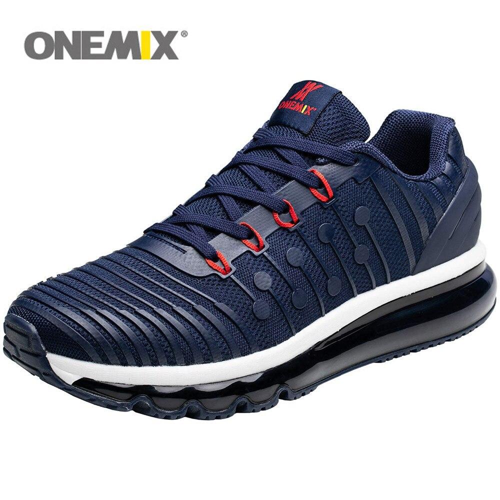 ONEMIX для мужчин кроссовки для женщин Air подушки 97 Вязание Тренажерный Зал Фитнес Открытый Спортивная обувь Max 12