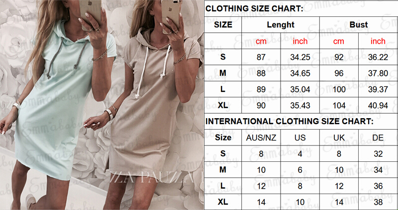 Women Casual Short Sleeve Solid Hooded Dress Workout plain Kpop Fashion  Streetwear Summer Evening Party Ladies Dresses vestido-in Dresses from  Women's