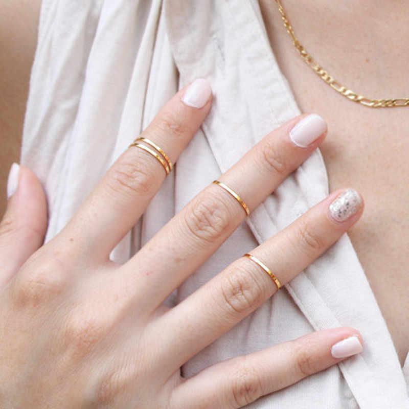 G024 1 sztuk Hot New Punk polerowany mosiądz pierścień Midi końcówki stawy palców pierścienie kobiet Knuckle Anillos na ślub kobiety biżuteria