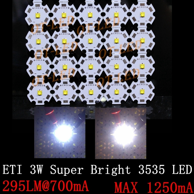 10pcs 3W ETI NLW3535 SMD300LM High Power LED diode Chip light emitter Cool Neutral White Warm & 10pcs 3W ETI NLW3535 SMD300LM High Power LED diode Chip light ...
