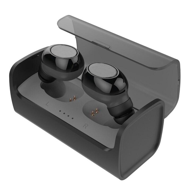 Jumeaux Sans Fil Bluetooth Écouteurs Portable Sport In-Ear Écouteurs Stéréo Mini Deux Écouteurs avec Boîte De Charge pour iPhone 7 plus