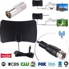 Digitális HDTV Freeview beltéri TV antenna DVB-T / DVT-T2 VHF UHF HDTV antennához TV antennás erősítővel 50 Mile Range TV vevő