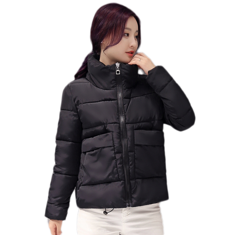 winter coat female Korean version of the small cotton coat short section of the students bread clothing soft sister cotton coat 2017 korean version of the thickening of female workers in the long coat lambskin coat winter coat large size coat