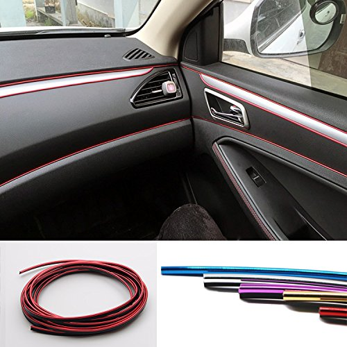 5M Car-Styling Interior Decoration Strips Moulding Trim Dashboard Door Edge Universal For Cars Auto Accessories In car styling car pendant handicraft dreamcatcher feather hanging car rearview mirror ornament auto decoration trim accessories for gifts 30cm
