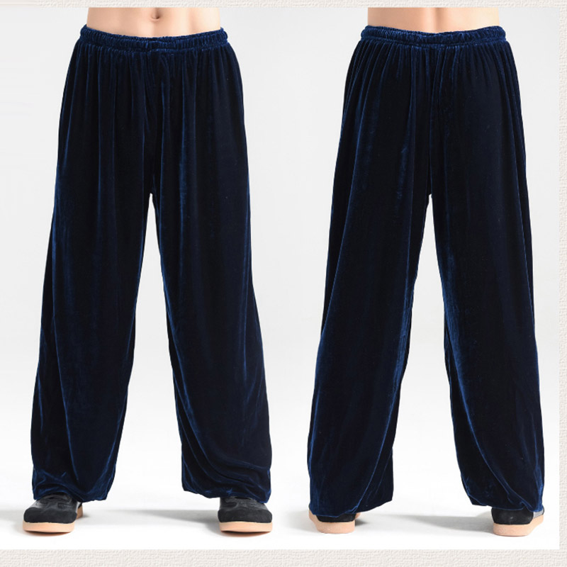 Tai Chi Pants  Thicken And Warm Gold Velvet Kung Fu Pants  Autumn And Winter Pleuche Trouser For Men And Women
