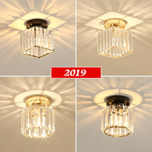 Modern Crystal Ceiling Lights Modern Led Ceiling Lamp For Living Room Bedroom Luminaire Porch Aisle Corridor Lighting Fixtures small crystal aisle led lights corridor ceiling lamp modern living room ceiling spotlights entrance hall creative porch lamps