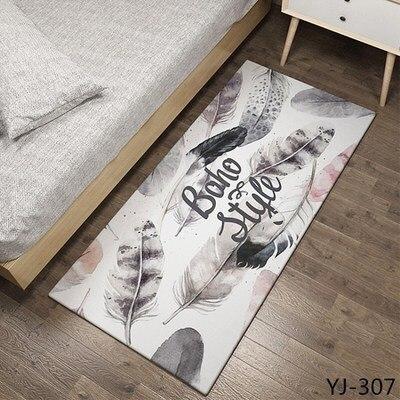 3D géométrique imprimé tapis moderne Table basse chambre salon repose-pieds modèle antidérapant tapis décoration salon tapis