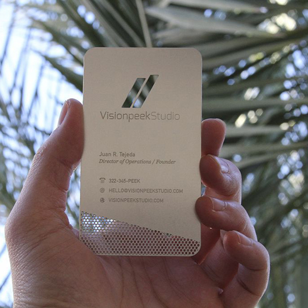 Personalized quality wire drawing stainless steel business metal card