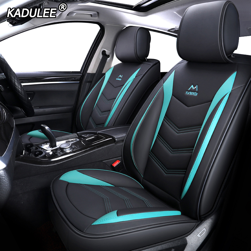 KADULEE Leather car seat covers for nissan almera classic g15 n16 juke x trail t31 t30
