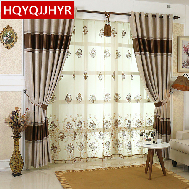 Superbe European Luxury Blackout Curtains For Living Room High End Modern Simple  Curtains For Bedroom Window