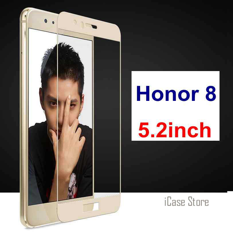 9H Full Screen Tempered Glass For Huawei Honor 8 FRD-L19 FRD-L14 FRD-L04 5.2inch Screen Protector Case Film For Honor 8 Film