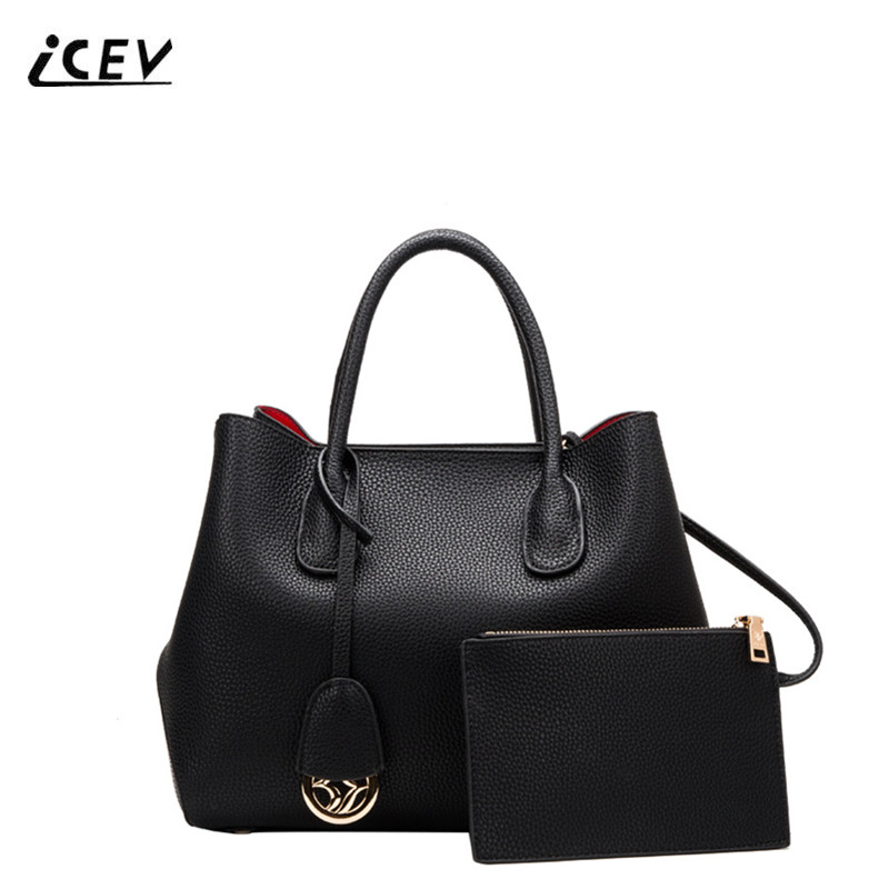 ICEV New Simple Genuine Leather Handbags Sequined Women Leather Handbags Designer Handbags High Quality Ladies Fashion Totes Sac icev new brands simple classic female cow leather designer handbags high quality genuine leather handbags women leather handbags