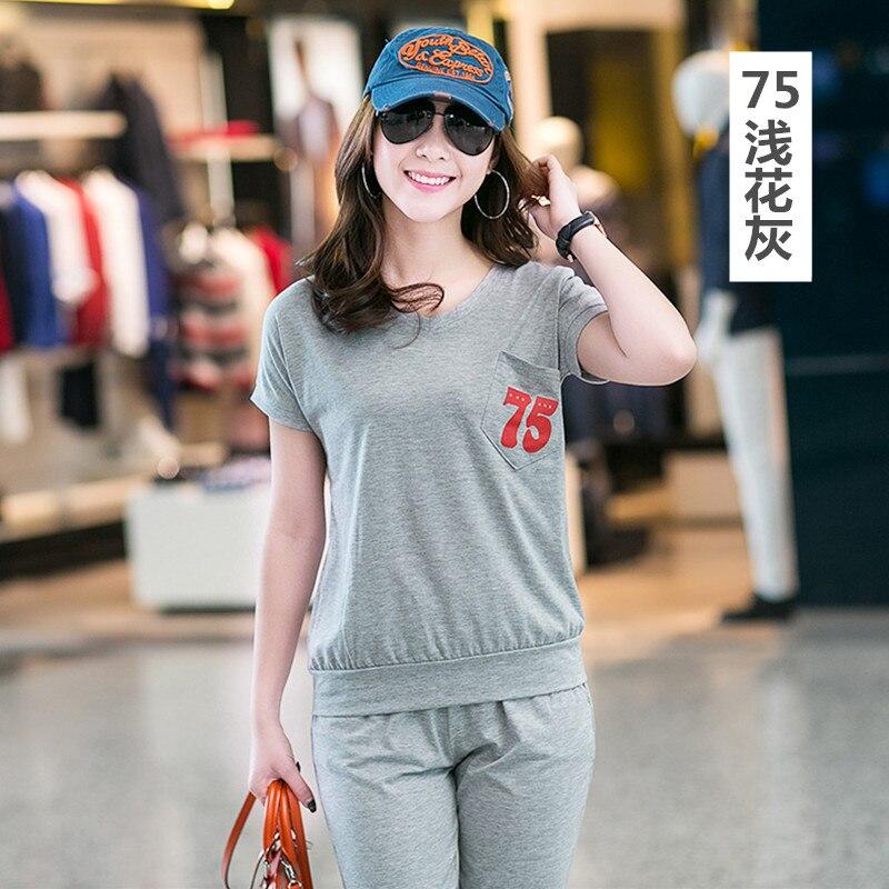 Women Suit 2 Piece Set Women Fashion Summer Sweatshirt Set Casual Suits For Women Tops+Pant Plus Size tracksuits M-3XL Z2495 3