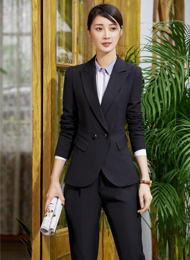 Vestiti Per black Blazer Uniforme Disegni Donne Set Striped E Vestito Il Nero Eleganti Strisce Pantaloni Affari A blu Ufficio Donna Con Di Giacca Nero 84d8aqB