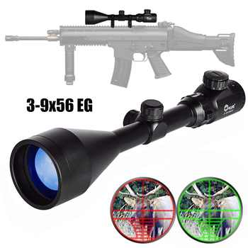 CVLIFE 3-9X56 E Rifle Scope Red and Green Mil-dot Illuminated Hunting Optics with Free 20mm Mounts Hunting - SALE ITEM Sports & Entertainment