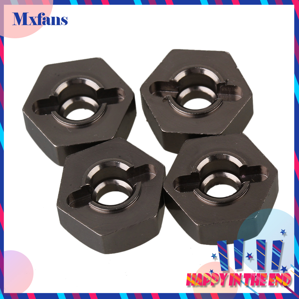 Mxfans 4PCS 12x5mm T10069 Alloy Upgrade Wheel Hex Mount for RC 1 10 Car Titanium Color