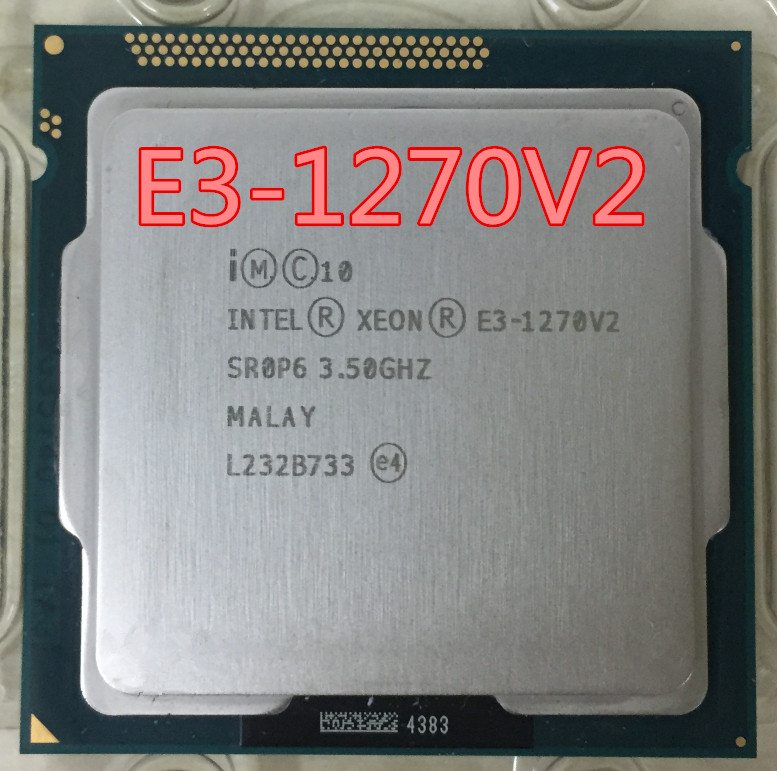 Intel <font><b>Xeon</b></font> <font><b>E3</b></font> <font><b>1270</b></font> <font><b>V2</b></font> 3.5GHz LGA1155 8MB Quad Core CPU Processor SR0P6 processador image