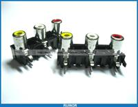 50 Pcs AV3 Pin Jack RCA Female Audio Video AV Socket Connector Pitch 15mm AV3 5