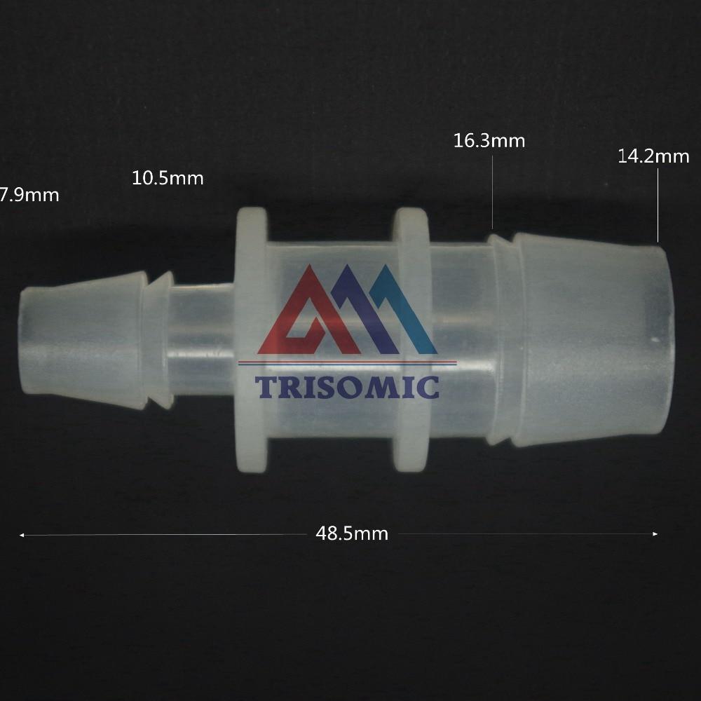7,9mm Gerade Reduzierung Verbindungskunststoffrohr Fitting Barbed Reduzierung Stecker Sanitär 14,2mm