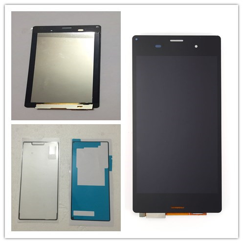 JIEYER 5.2 black For Sony Xperia Z3 L55t D6603 D6653 sol26 LCD Display with Touch Screen Glass Digitizer Full Assembly+glue