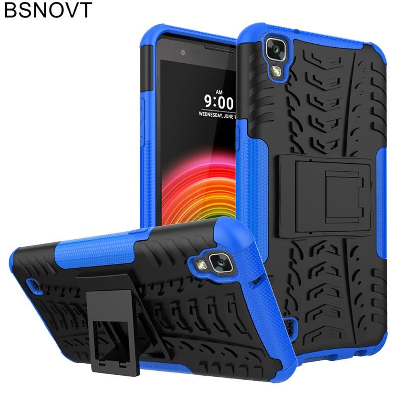 For LG X Power Case Soft TPU +Hard Plastic Anti-knock Cover K220 K220d K210 Funda